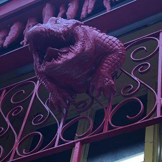 Purple alligator